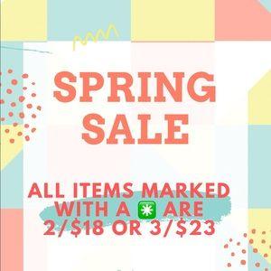 ALL ITEMS MARKED WITH A ✳️ ARE 2/$18 OR 3/$23!!